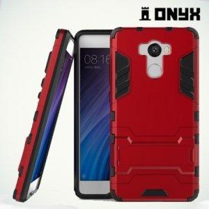 Противоударный гибридный чехол для Xiaomi Redmi 4 / 4 Pro - Красный