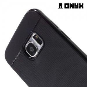 Противоударный тонкий чехол для Samsung Galaxy S7 Edge - Черный