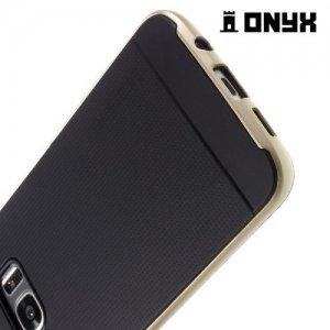 Противоударный тонкий чехол для Samsung Galaxy S7 Edge - Золотой