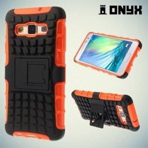 Противоударный защитный чехол для Samsung Galaxy A3 - оранжевый