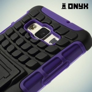 Противоударный защитный чехол для Samsung Galaxy A5 - фиолетовый