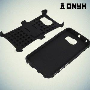 Противоударный защитный чехол для Samsung Galaxy S6 Edge - черный