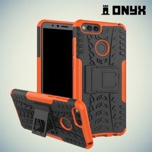 Противоударный защитный чехол для Huawei Honor 7X - Оранжевый