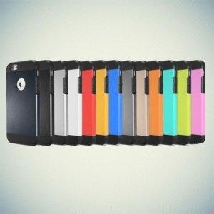 Противоударный защитный чехол для iPhone 6S / 6  - Серебряный