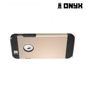Противоударный защитный чехол для iPhone 6S / 6  - Золотой