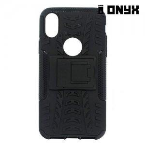 Противоударный защитный чехол для iPhone Xs / X - Черный