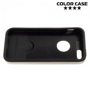 Противоударный гибридный чехол для iPhone SE - Золотой