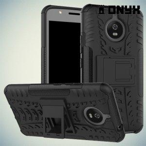 Противоударный защитный чехол для Moto E4 Plus - Черный