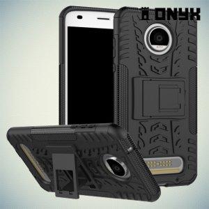 Противоударный защитный чехол для Motorola Moto Z2 Play - Черный