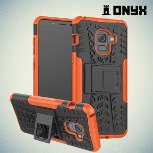Противоударный защитный чехол для Samsung Galaxy A5 2018 SM-A530F - Оранжевый