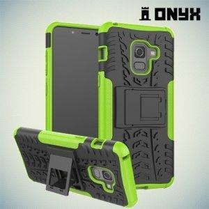 Противоударный защитный чехол для Samsung Galaxy A5 2018 SM-A530F - Зеленый
