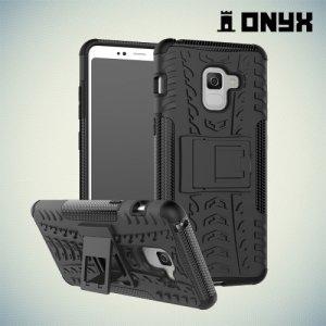Противоударный защитный чехол для Samsung Galaxy A8 Plus 2018 - Черный
