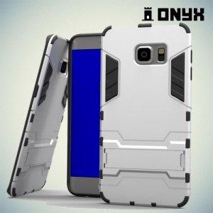 Противоударный защитный чехол для Samsung Galaxy S6 Edge Plus - Серебряный