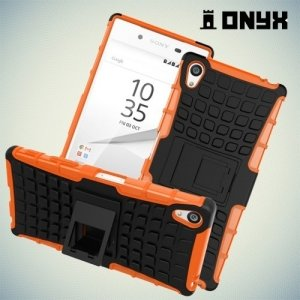 Противоударный защитный чехол для Sony Xperia Z5 Premium - Оранжевый