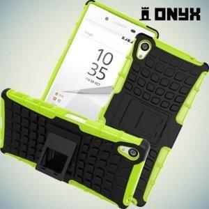 Противоударный защитный чехол для Sony Xperia Z5 Premium - Зеленый