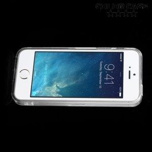 Прозрачный чехол на iPhone SE с прозрачными ребрами