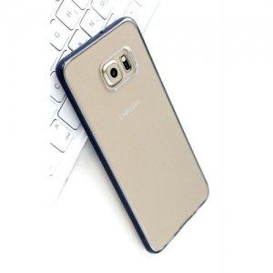Прозрачный чехол ROCK Pure для Samsung Galaxy S6 Edge Plus - Черный