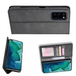 Чехол Книжка с Кошельком и Подставкой для Huawei Honor View 30 / View 30 Pro / 30 Pro Черный