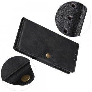 PU Кожаный Чехол Книжка с Кошельком и Подставкой для Huawei Mate 30 Lite Черный