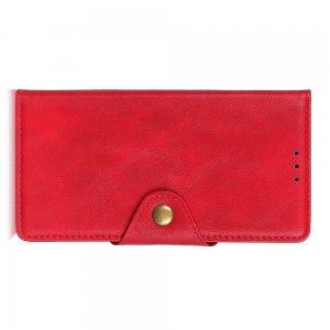 PU Кожаный Чехол Книжка с Кошельком и Подставкой для Huawei Mate 30 Lite Красный