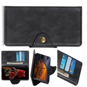 PU Кожаный Чехол Книжка с Кошельком и Подставкой для Samsung Galaxy M30s Черный