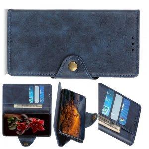 PU Кожаный Чехол Книжка с Кошельком и Подставкой для Samsung Galaxy M30s Синий