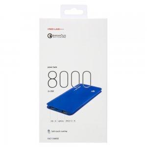 Red Line X-100BD 8000mAh Портативный внешний аккумулятор c Qualcomm Quick Charge 3.0