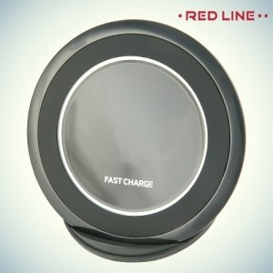 RedLine Qi-03 быстрая беспроводная зарядка для смартфонов - Черный