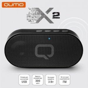 Qumo X2 беспроводная Bluetooth портативная колонка - Черный