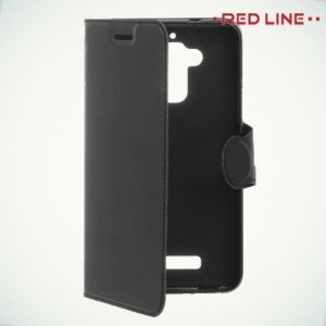 Red Line чехол книжка для Asus ZenFone 3 Max ZC520TL  - Черный