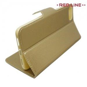 Red Line чехол книжка для Asus Zenfone 4 Max ZC520KL - Золотой