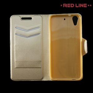 Red Line чехол книжка для HTC Desire 628, 626, 626G и 626G+ Dual Sim - Золотой