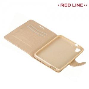 Red Line чехол книжка для HTC Desire 728, 728G Dual SIM  - Золотой