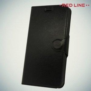 Red Line чехол книжка для Huawei Honor 6C Pro - Черный