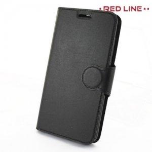 Red Line чехол книжка для Huawei Honor 8 lite - Черный