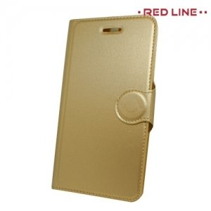 Red Line чехол книжка для Huawei Honor 9 - Золотой