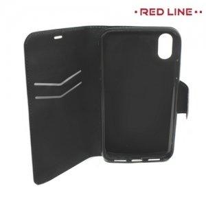 Red Line чехол книжка для iPhone Xs / X - Черный