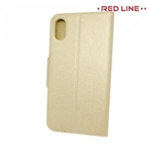 Red Line чехол книжка для iPhone Xs / X - Золотой
