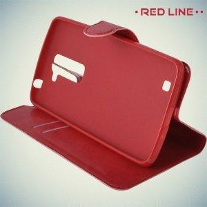 Red Line чехол книжка для LG K7 X210ds - Красный