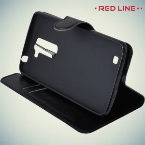 Red Line чехол книжка для LG K7 X210ds - Черный