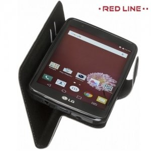 Red Line чехол книжка для LG K8 K350E  - Черный