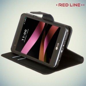 Red Line чехол книжка для LG X Style K200DS - Черный