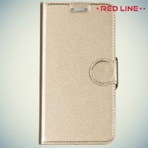 Red Line чехол книжка для Meizu m3s mini / m3 mini - Золотой