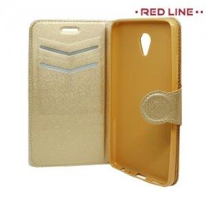 Red Line чехол книжка для Meizu M5 Note - Золотой