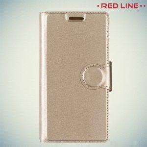 Red Line чехол книжка для Nokia 3 - Золотой