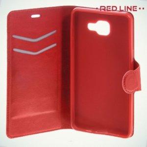 Red Line чехол книжка для Samsung Galaxy A3 2016 SM-A310F - Красный
