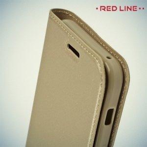 Red Line чехол книжка для Samsung Galaxy A3 2017 SM-A320F - Золотой