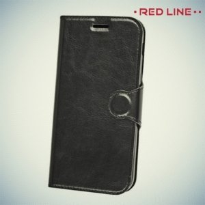 Red Line чехол книжка для Samsung Galaxy A7 2017 SM-A720F - Черный