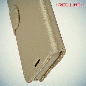Red Line чехол книжка для Samsung Galaxy A7 2017 SM-A720F - Золотой