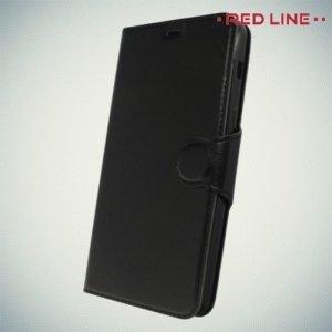 Red Line чехол книжка для Samsung Galaxy A8 2018 - Черный